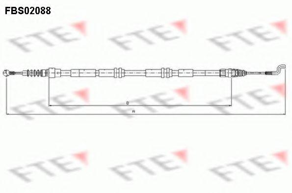 Трос, стояночная тормозная система FTE арт.