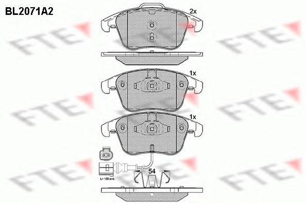 Комплект тормозных колодок, дисковый тормоз FTE арт.
