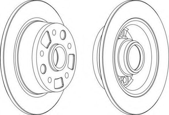 Тормозной диск FERODO арт. DDF456