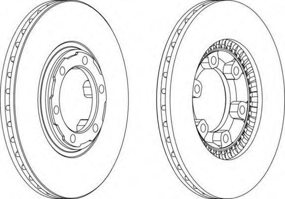 Тормозной диск FERODO арт. DDF459