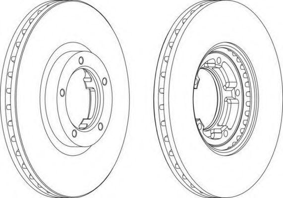Тормозной диск FERODO арт. DDF848