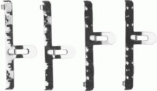 Комплектующие, колодки дискового тормоза FERODO арт.