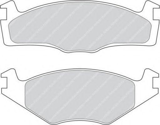 Комплект тормозных колодок, дисковый тормоз FERODO арт. FDB1072