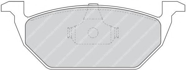 Комплект тормозных колодок, дисковый тормоз FERODO арт. FDB1094
