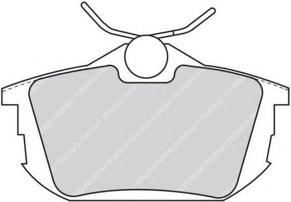 Комплект тормозных колодок, дисковый тормоз FERODO арт. FDB1095