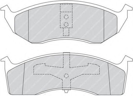 Комплект тормозных колодок, дисковый тормоз FERODO арт. FDB1098