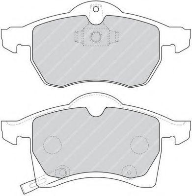 Комплект тормозных колодок, дисковый тормоз FERODO арт. FDB1295