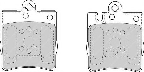 Комплект тормозных колодок, дисковый тормоз FERODO арт. FDB1322