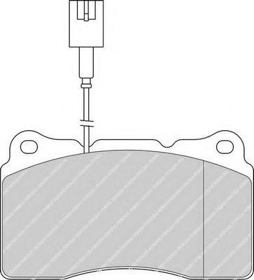 Комплект тормозных колодок, дисковый тормоз FERODO арт. FDB1334