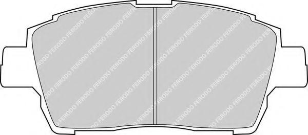 Комплект тормозных колодок, дисковый тормоз FERODO арт. FDB1392