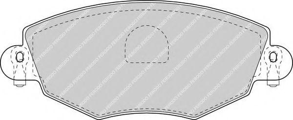 Комплект тормозных колодок, дисковый тормоз FERODO арт. FDB1425