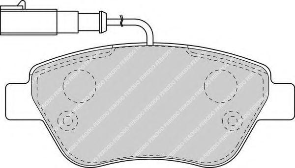Комплект тормозных колодок, дисковый тормоз FERODO арт. FDB1466