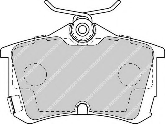 Комплект тормозных колодок, дисковый тормоз FERODO арт.
