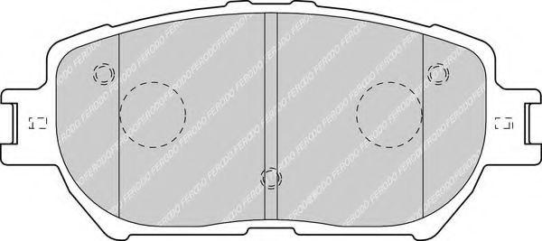 Комплект тормозных колодок, дисковый тормоз FERODO арт. FDB1620