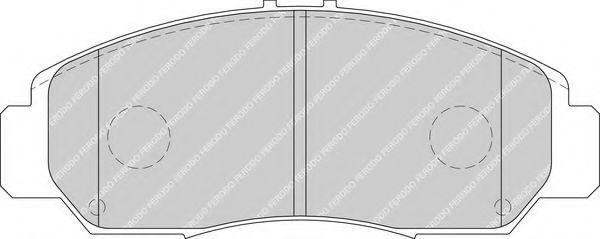Комплект тормозных колодок, дисковый тормоз FERODO арт. FDB1669