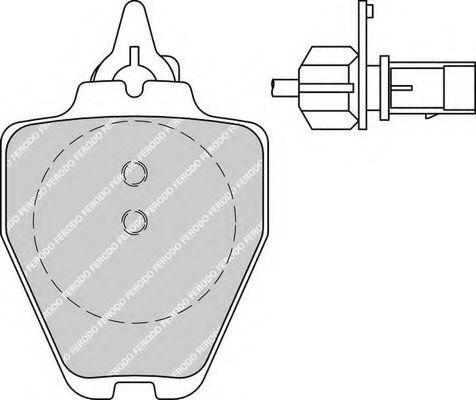 Комплект тормозных колодок, дисковый тормоз FERODO арт. FDB1709