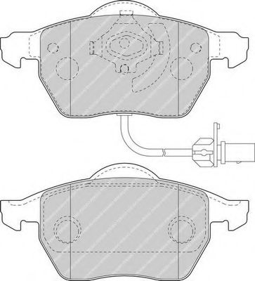 Комплект тормозных колодок, дисковый тормоз FERODO арт. FDB1717
