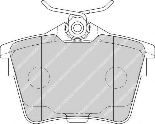 Комплект тормозных колодок, дисковый тормоз FERODO арт. FDB1727