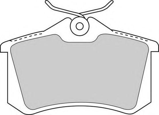 Комплект тормозных колодок, дисковый тормоз FERODO арт. FDB1788