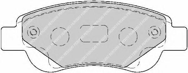 Комплект тормозных колодок, дисковый тормоз FERODO арт. FDB1790