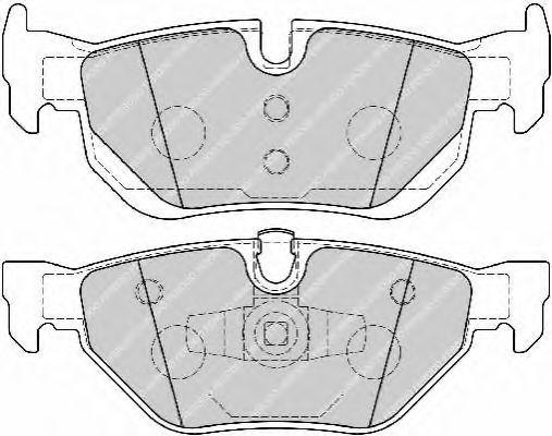 Комплект тормозных колодок, дисковый тормоз FERODO арт. FDB1807