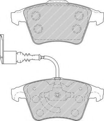 Комплект тормозных колодок, дисковый тормоз FERODO арт. FDB1826