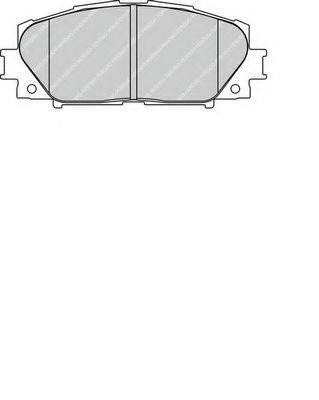 Комплект тормозных колодок, дисковый тормоз FERODO арт. FDB1829