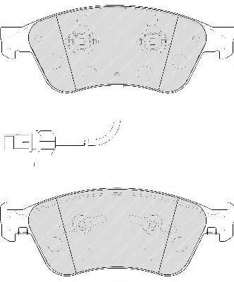 Комплект тормозных колодок, дисковый тормоз FERODO арт. FDB1832