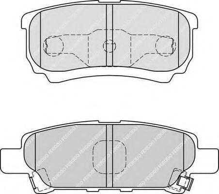Комплект тормозных колодок, дисковый тормоз FERODO арт. FDB1839