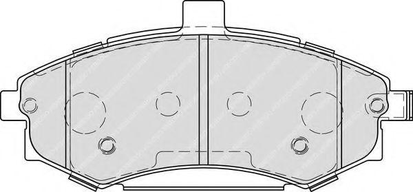 Комплект тормозных колодок, дисковый тормоз FERODO арт. FDB1840