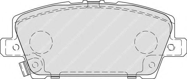 Комплект тормозных колодок, дисковый тормоз FERODO арт. FDB1859