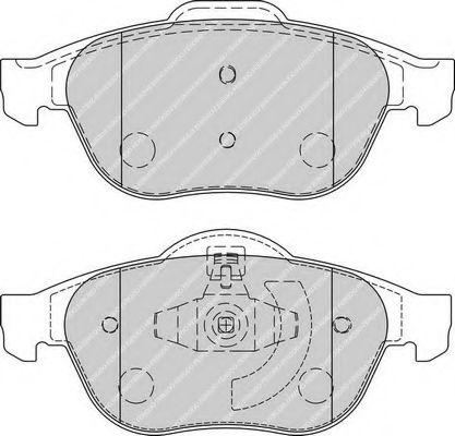 Комплект тормозных колодок, дисковый тормоз FERODO арт. FDB1865