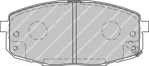 Комплект тормозных колодок, дисковый тормоз FERODO арт. FDB1869