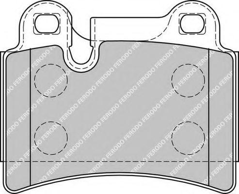 Комплект тормозных колодок, дисковый тормоз FERODO арт. FDB1878