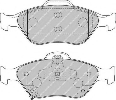 Комплект тормозных колодок, дисковый тормоз FERODO арт. FDB1890