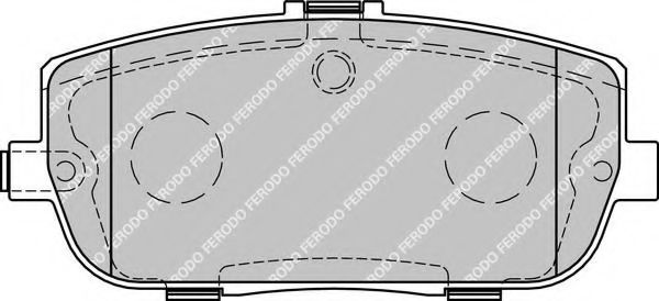 Комплект тормозных колодок, дисковый тормоз FERODO арт. FDB1894