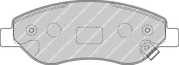 Комплект тормозных колодок, дисковый тормоз FERODO арт. FDB1921