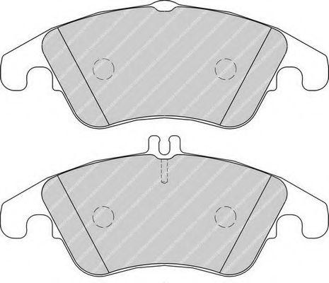 Комплект тормозных колодок, дисковый тормоз FERODO арт. FDB1979