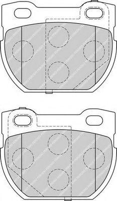 Комплект тормозных колодок, дисковый тормоз FERODO арт. FDB1994
