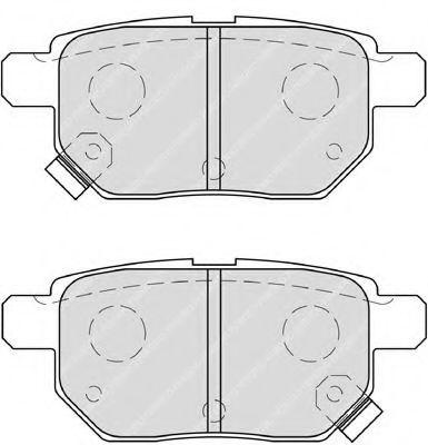 Комплект тормозных колодок, дисковый тормоз FERODO арт. FDB4042