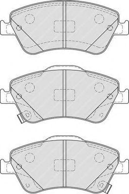 Комплект тормозных колодок, дисковый тормоз FERODO арт. FDB4046