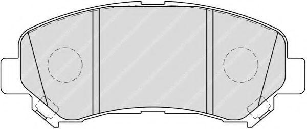 Колодки гальмівні дискові Ferodo FDB4051