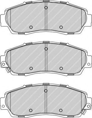 Комплект тормозных колодок, дисковый тормоз FERODO арт. FDB4161