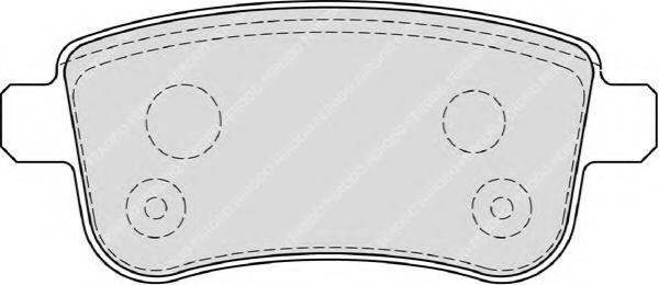 Комплект тормозных колодок, дисковый тормоз FERODO арт. FDB4182