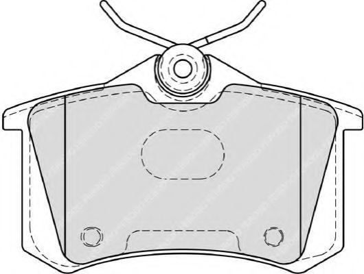 Комплект тормозных колодок, дисковый тормоз FERODO арт. FDB4183