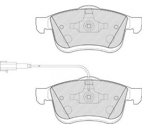 Комплект тормозных колодок, дисковый тормоз FERODO арт. FDB4184