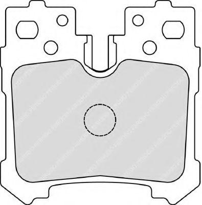 Комплект тормозных колодок, дисковый тормоз FERODO арт. FDB4210