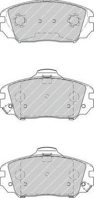 Комплект тормозных колодок, дисковый тормоз FERODO арт. FDB4246