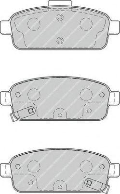 Комплект тормозных колодок, дисковый тормоз FERODO арт. FDB4265