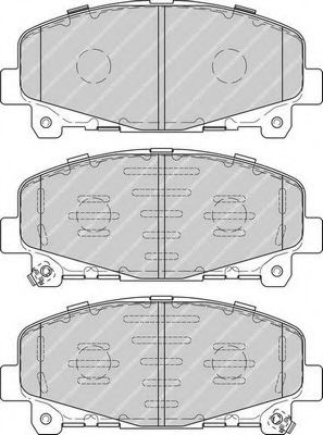 Комплект тормозных колодок, дисковый тормоз FERODO арт. FDB4270